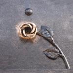 Detail of decorative metal gates